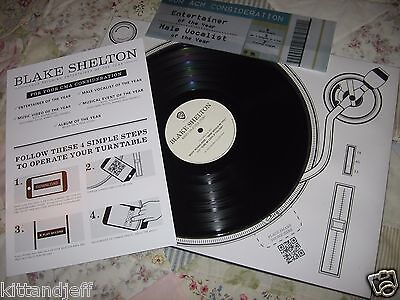 Rare BLAKE SHELTON promo CMA vinyl smart phone turntable program Miranda Lambert