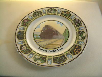 """MISSOURI PACIFIC LINES RAILROAD COLLECTOR PLATE, State Flowers, 10.5"""""""