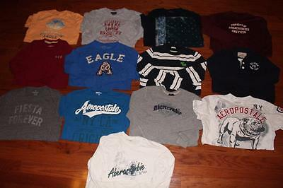 Lot Of 13 Mens Abercrombie American Eagle Shirts Tees Aero Hollister All Large