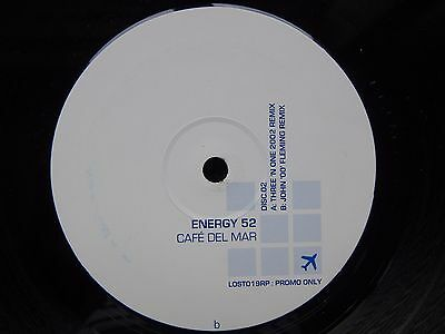 "Energy 52 - Cafe Del Mar - 12"" Vinyl Promo Single"