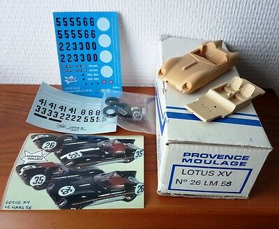 Lotus Ty.XV Le Mans '58 #26-35 1/43 Kit montaggio Limited provence M. vintage