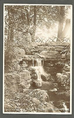 Real photo. Waterfall, Marle Hill Lake, Cheltenham. Unused & unposted.