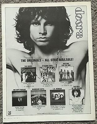 THE DOORS - ALBUMS 1986 full page UK press ad