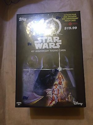 STAR WARS TOPPS 40th ANNIVERSARY FACTORY SEALED BOX 10 PACKS TARGET EXCLUSIVE