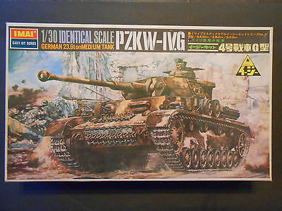 Vintage 1/30 IMAI Panzer IVG WW2 German tank motorized built model kit