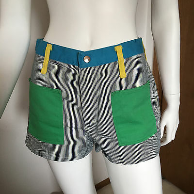 Vintage Peter Max Wrangler Color Blocked Hot Pants Womens Shorts fits Size 4-6