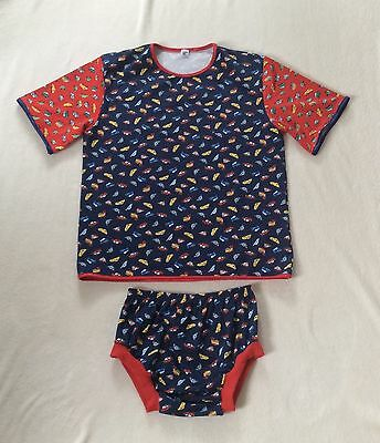 😇 Adult Set Shirt+Windelhose Kleine Autos  Gr. M
