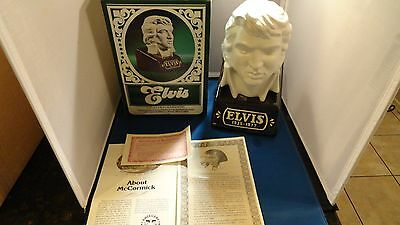 Mccormick Elvis Bust Whiskey Decanter 1977 Empty **free Shipping