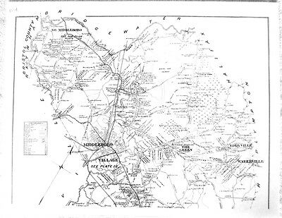 1903 Town of Middleboro, Massachusetts MA map - 5 pages
