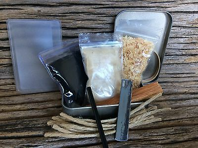 'Fire In Your Pocket' Emergency Fire Starter Set In A Tin. Survival,Bushcraft
