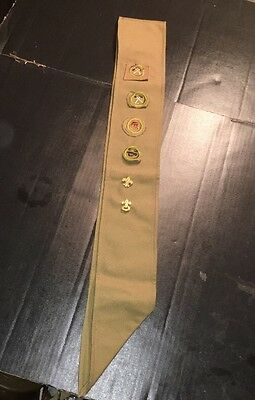 1930's Boy Scout Merit Badge Sash Square