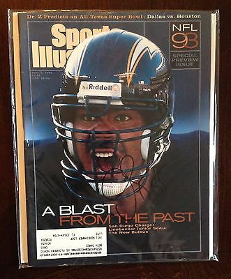 JUNIOR JR SEAU SIGNED AUTOGRAPHED SPORTS ILLUSTRATED SI Magazine Chargers