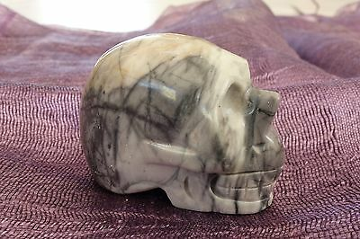 "SKULL ""PICASSO JASPER"" 50mm GEMSTONE CARVING"