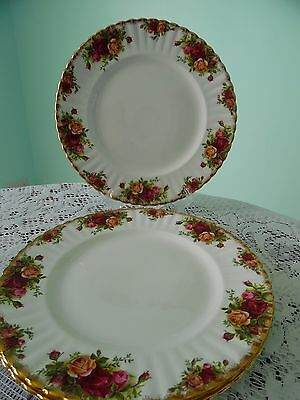 ROYAL ALBERT 'OLD COUNTRY ROSES' DINNER PLATE LARGE x  2 -  BONE CHINA