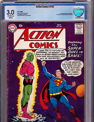 Action Comics #242  1958 Cbcs Universal 3.0 1St App Of Brainiac -Huge Key!