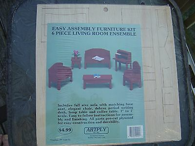 Dollhouse Furniture 3 Full Rooms Unassembled For 1 Price