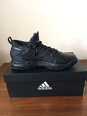 Adidas D Lillard 2 Men Basketball All Black Customise Size 7uk 7.5us