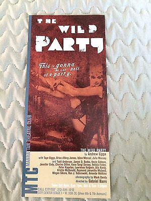 """Broadway promo ad Measures  4"""" x 9""""  Features The Wild Party Idina Manzel"""