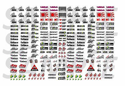 JDM Racing Decals for Hot Wheels 1:64 scale