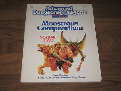 AD&D 2nd Edition Monstrous Compendium Volume Two MC2 TSR 2103
