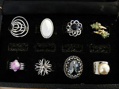 8 Rings LOT Signed Sarah Coventry ALL in exquisite mint condition!