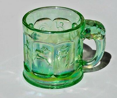 Imperial Lenox #1591 Storybook Mug Iridescent Meadow Green 1981