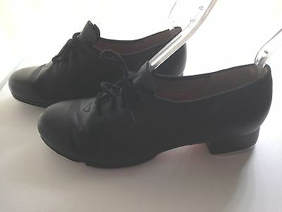 Bloch Techno Tap Size 8.5 Insole 9.5 Women's Tap Shoes #3H #1T Black Leather