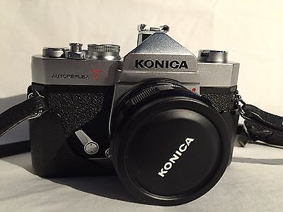 KONICA AUTOREFLEX T Camera With 52mm Lens AS IS