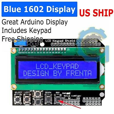 1602 Serial Blue Backlight LCD Display Keypad 4 Arduino Uno R3 Mega 2560 Shield