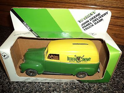John Deere 50 Chevy Panel Delivery Diecast Truck Bank, New in Box! 1/25 ERTL