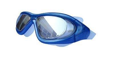 Qishi's Super Big Frame No Press the Eye Swimming Goggles for Adult Blue