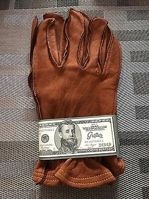"""NEW Grifter """"Classics"""" Leather Motorcycle Gloves  Made In USA size:xl"""