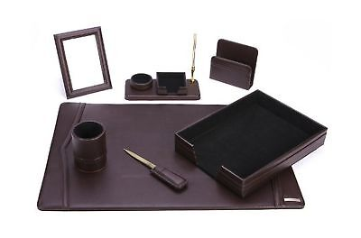 Office Supply Eco-Friendly Leather Desk Set (93-DSN7)