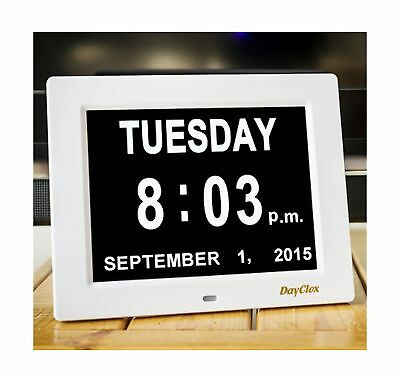 DayClox The Original Memory Loss Digital Calendar Day Clock with Extra Large ...