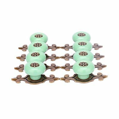 SunKni 8 Pack Vintage Ceramic Knobs Handles Pulls With Metal Back Plates for ...