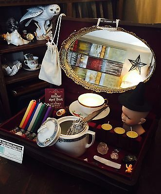 Vintage Antique WITCH BOX Witches Spell Kit Witch's Altar Wicca Pagan Tools