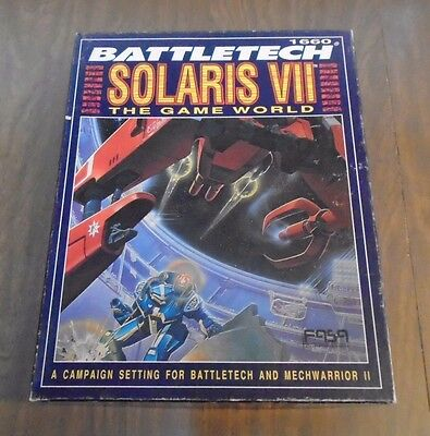 Battletech Solaris VII Game World Box Set 1660 FASA 1991 UNPUNCHED & COMPLETE