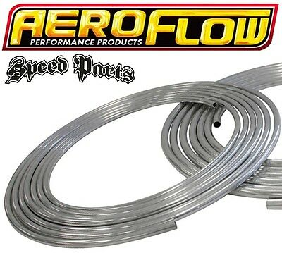 "Aeroflow Stainless Steel Hard Line 3/8"" 9.5Mm Fuel Oil Water E85 Af66-3000Ss"