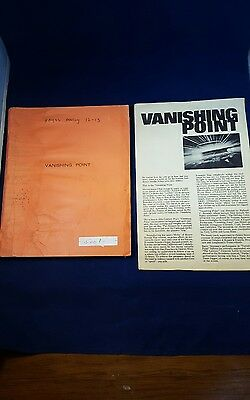 Original Vanishing Point Script / Screenplay 1970 By G.Cain / Producers Estate