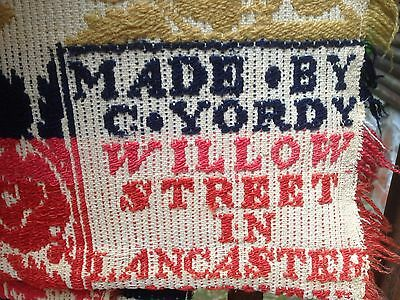 Christian Yordy Jacquard Coverlet.  Willow Street Lancaster County Pa Quilt