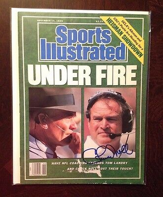 PITTSBURGH STEELERS CHUCK NOLL AUTOGRAPHED SPORTS ILLUSTRATED SI Magazine Landry