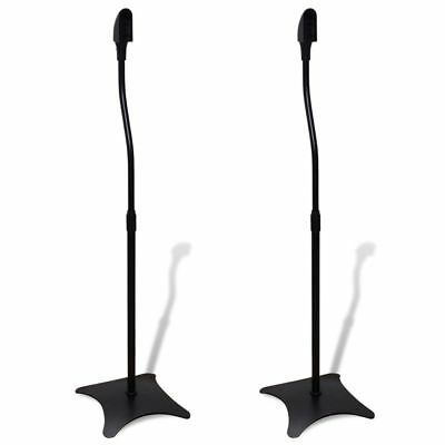 High Quality Universal Sound Floor Speaker Stand Rack Black 2 pcs
