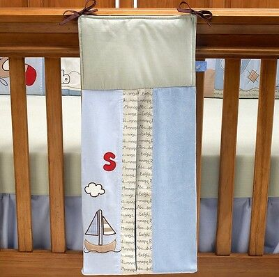 Living Textiles Baby Nappy Stacker Bag. Style Casey's Abc's. New.