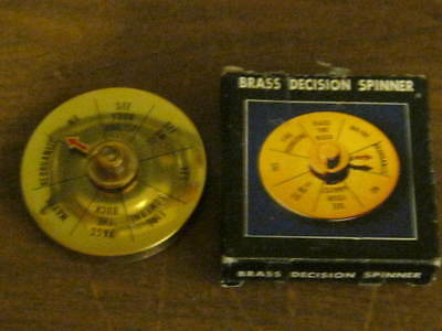 Vintage Brass Decision Spinner - desk top item