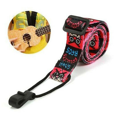 Length Adjustable Nylon Universal Ukulele Strap Belt Sling With Hook Mini Guitar