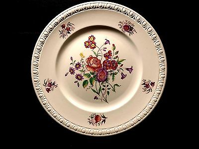 "Spode Dinner Plate 10 3/4"" Copeland CENTURION Flowers Vintage Earhenware China"