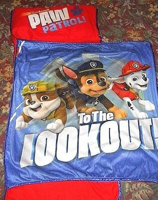 Nickelodeon Paw Patrol All In One Kids NAP MAT Nap Roll w/ Pillow~ Kinder NapMat