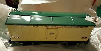 MTH TINPLATE TRADITIONS 10-1090 #500 IVORY AND PEACOCK REEFER CAR (New in Box)