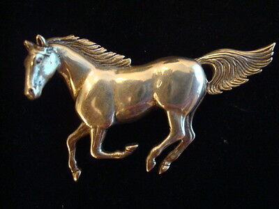 Vintage Galloping Horse Pin Brooch Sterling Silver Glen Sandoval - Exc Cond