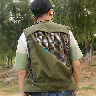 Outdoor Breathable Multi-Pocket Vest Fishing Photography Travel Quick-Dry Jacket